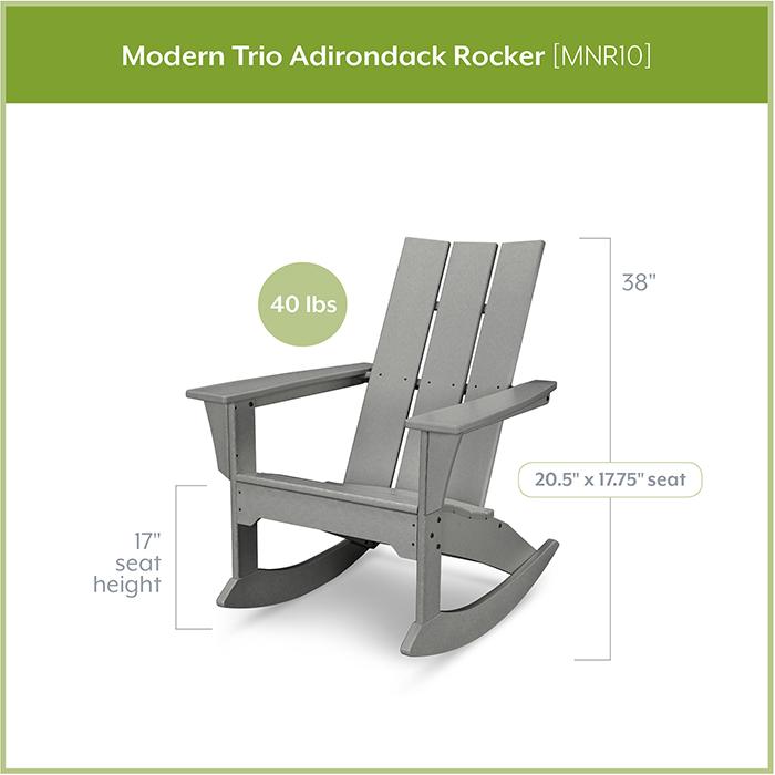 polywood-mnr10-modern-trio-adirondack-rocker