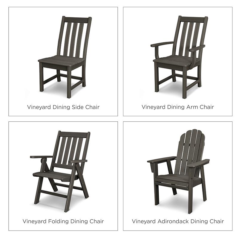 Vintage Vineyard Dining Chair Options